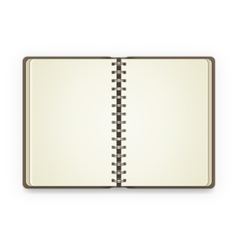 Open notebook with blank pages vector