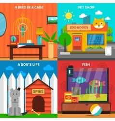 Pets Concept Set vector image
