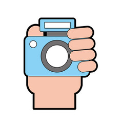 professional digital camera vector image