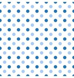 Seamless polka blue pattern vector image vector image