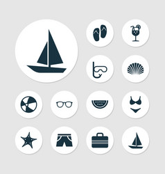 Season icons set collection of forceps tube vector