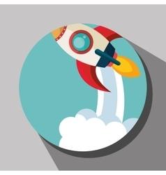 Spaceship rocket icon vector image