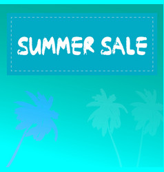 Summer sale palm trees vector
