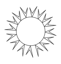 Sun burst in white and black colors vector image vector image