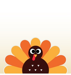 Thanksgiving colorful Turkey greeting vector image
