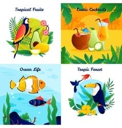 Tropical Design Concept Set vector image vector image