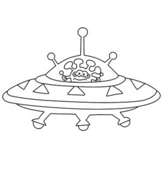 Unidentified flying object ufo vector
