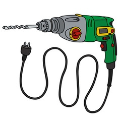 Green impact drill vector image