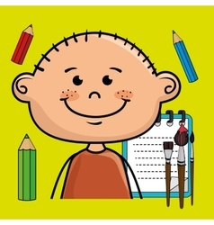 Character cartoon child notebook vector