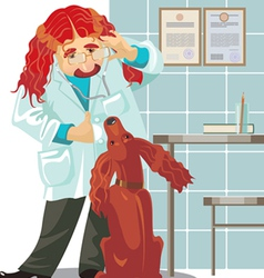 Veterinarian clinic vector
