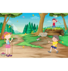 Kids play outdoor vector