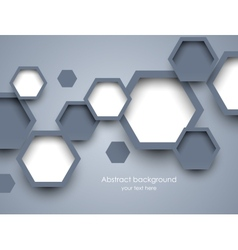 Background with hexagons vector