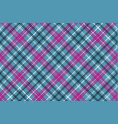 Blue pink check plaid seamless pattern vector