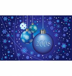 2008 decorations vector image vector image