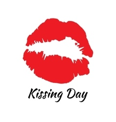 Kissing day vector