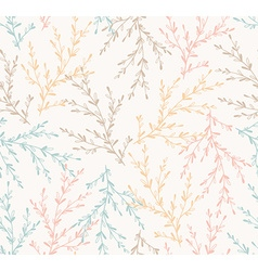 Seamless spring pattern with plants floral vector