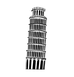Sketch pisa tower vector