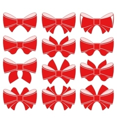 Plain red bow vector