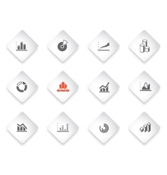 Information graphic icon set vector