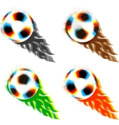 halftone soccer balls vector image