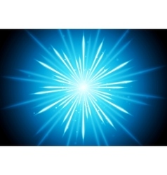 Abstract blue glowing beams background vector