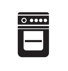Black gase stove icon on white background vector