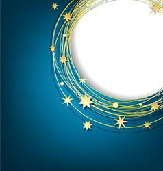 abstract background with gold stars vector image vector image