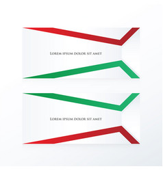 Abstract banner red green vector