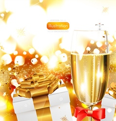 Celebration background with champagne vector