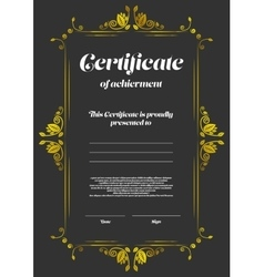 Certificate of appearance template vector