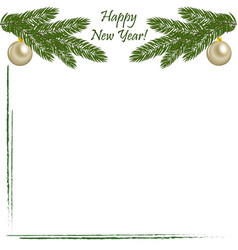 christmas background with greetings vector image vector image