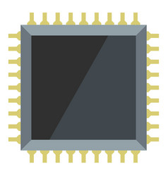 computer microchip icon isolated vector image