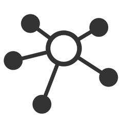 Connections Flat Icon vector image vector image