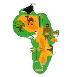 Continent africa and nature vector