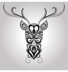 Deer Tattoo Style vector image vector image