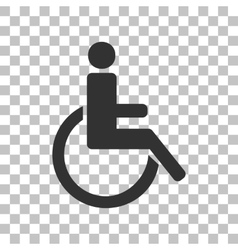 Disabled sign dark gray icon on vector