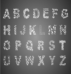 Drawing english font on chalkboard vector