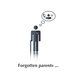 Forgotten parents vector image vector image