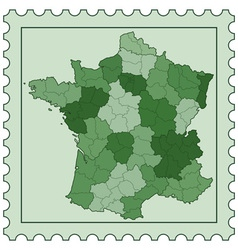 France on stamp vector
