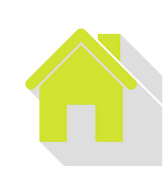 Home silhouette pear icon with flat vector