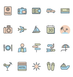 icon lines set vector image vector image