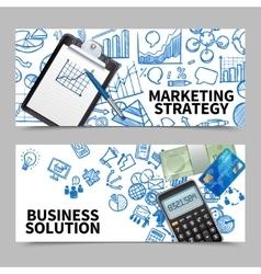 Marketing banner set vector