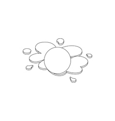 Paintball ball icon isometric 3d style vector