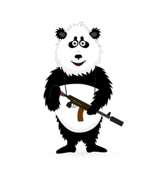 Panda Bear standing on white vector image