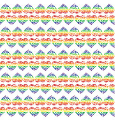 Pattern with bright hearts vector