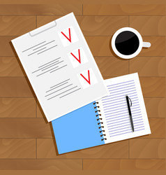 planning concept vector image vector image