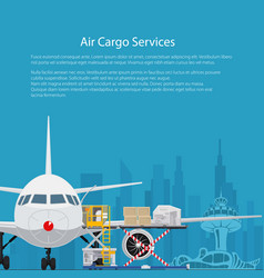 Poster air cargo services vector