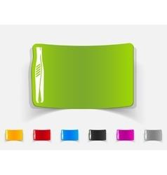 Realistic design element tweezers vector