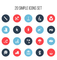 set of 20 editable planting icons includes vector image