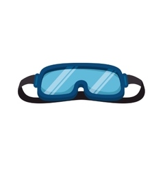 Ski googles accesory vector